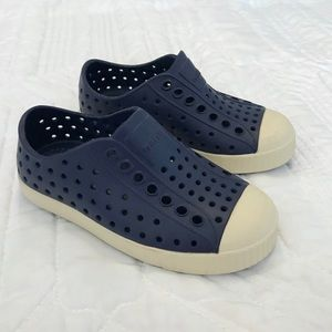 slip-on sneakers.  Navy blue, size 8